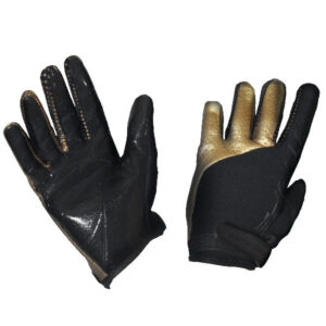 GK-GLOVES WITH SILICONE BLACK_GOLD